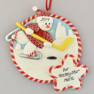 Hockey Star personalized christmas Ornaments