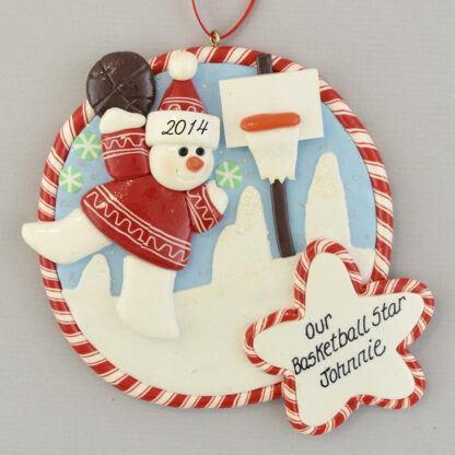 Basketball Star Claydough personalized Christmas Ornaments