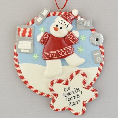 Technology Super Star Claydough Christmas Ornament