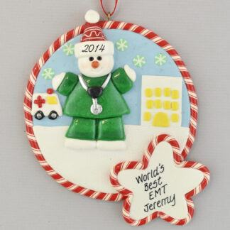 EMT Claydough Christmas Ornament