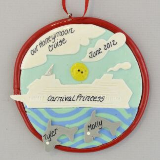 Honeymoon Cruise Personalized Christmas Ornament