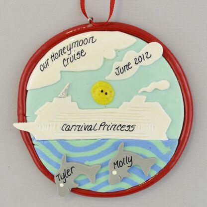 Honeymoon Cruise Personalized Christmas Ornament