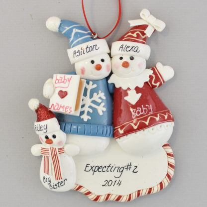 Expecting A Second Child Personalized Christmas Ornament