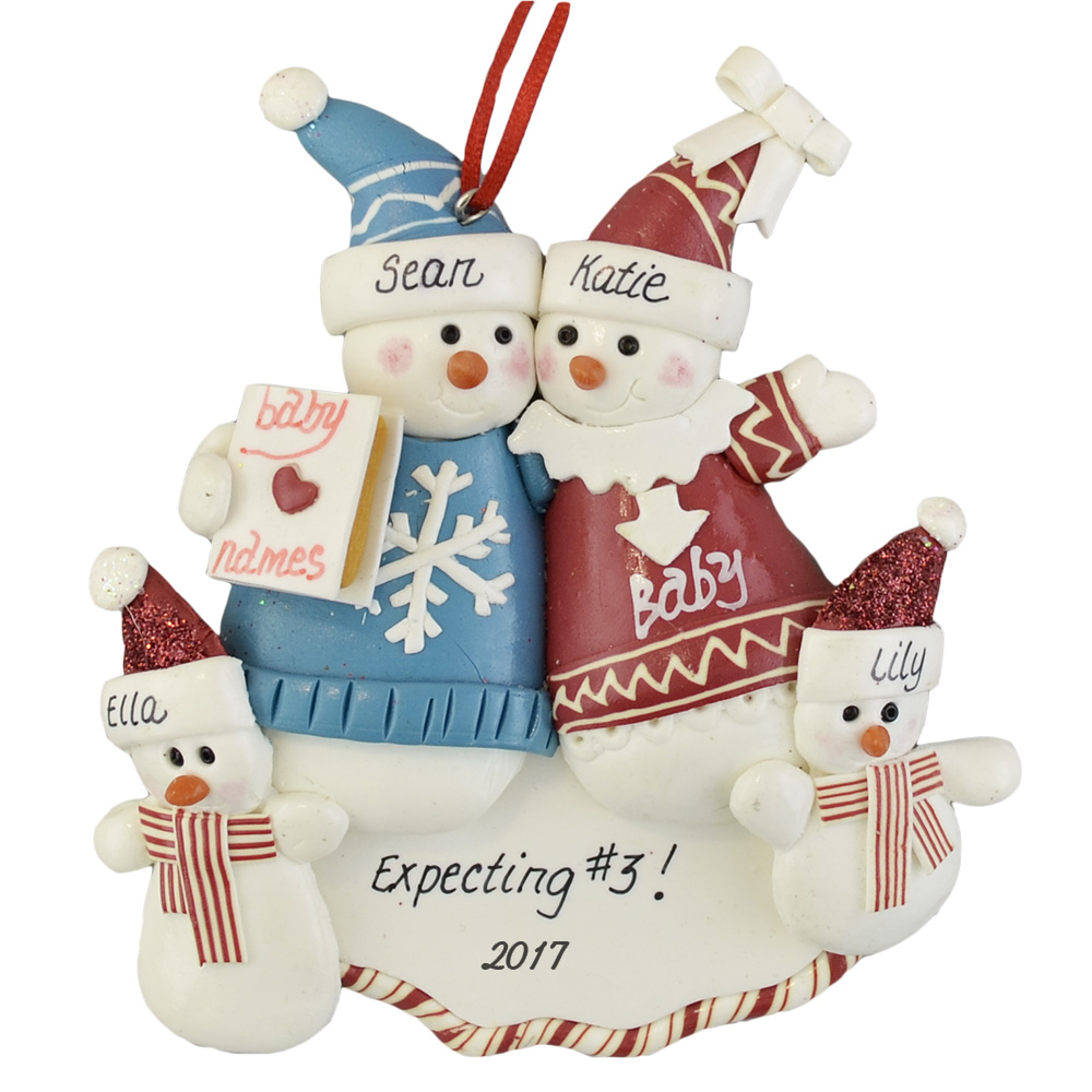 Expecting A Third Baby Custom Family Ornament Calliope