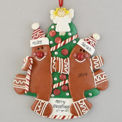 Grandparents Gingerbread Personalized Christmas Ornament