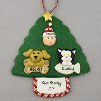 My 2 Pets Personalized Christmas Ornament