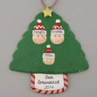 Grandparents of 1 Personalized Christmas Ornaments