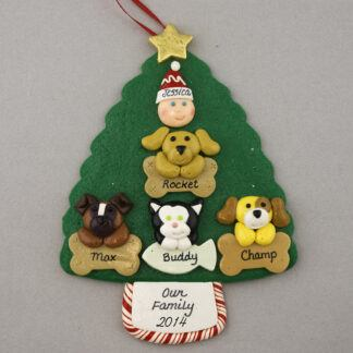 My 4 Pets Personalized Christmas Ornament