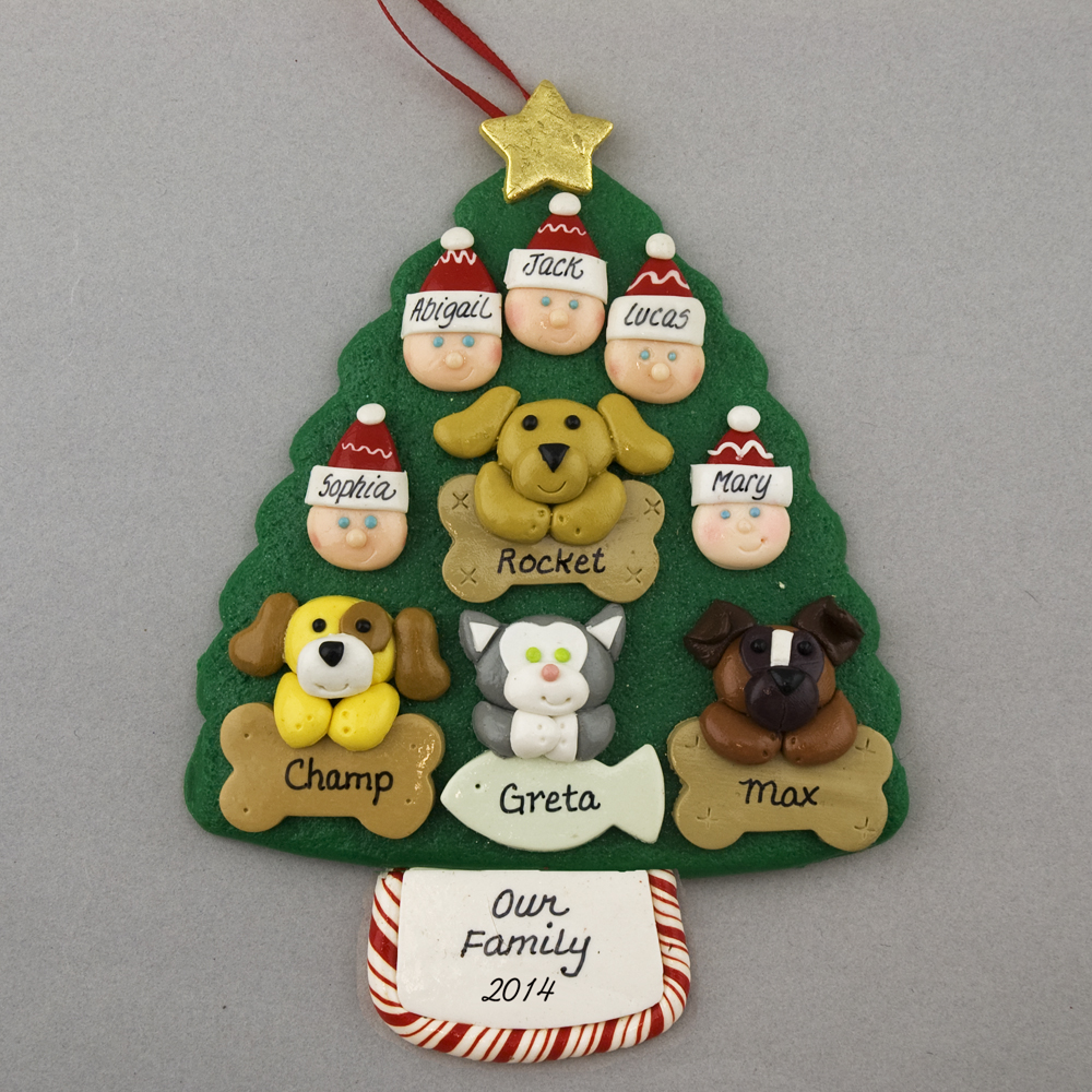 polymer clay pet Christmas ornament White Poodle in stocking Christmas ornament