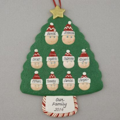 Family of 10 Personalized Christmas Ornament