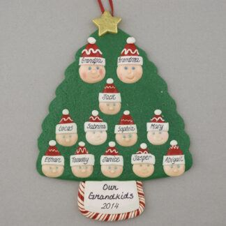 Grandparents of 10 Personalized Christmas Ornaments