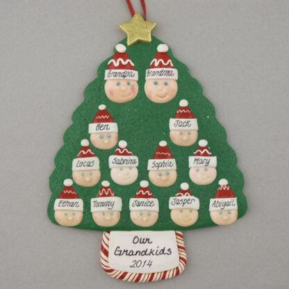 Grandparents of 11 Personalized Christmas Ornaments