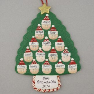 Grandparents of 13 Personalized Christmas Ornaments