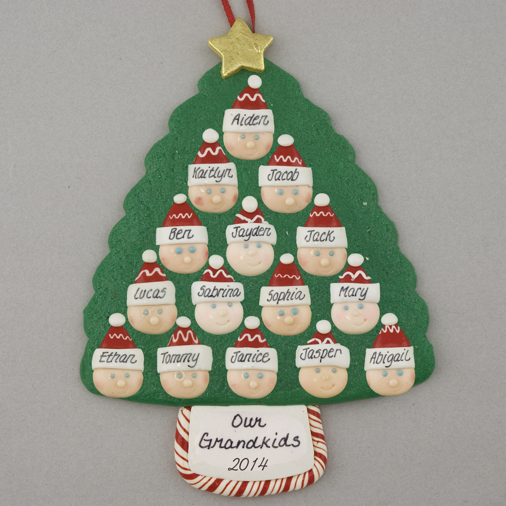 Grandparents of 13 - Custom Family Christmas Ornament | Calliope