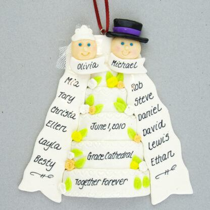 A Wedding Day Personalized Ornament