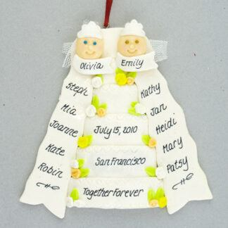 Our Wedding Day Personalized Christmas Ornament