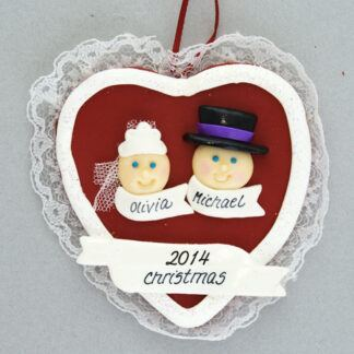 Bride and Groom First Christmas Personalized Ornament