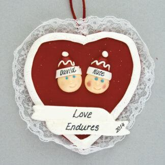 Love You Heart Personalized Ornament