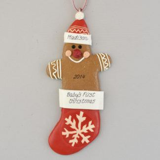 Gingerbread Baby's First Christmas Personalized Ornament