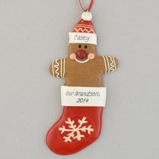 Gingerbread for our Grandson or Granddaughter Ornament