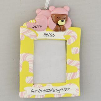 Granddaughter's Photo Frame Personalized christmas Ornaments