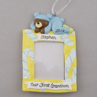 Grandson's Photo Frame Personalized christmas Ornaments