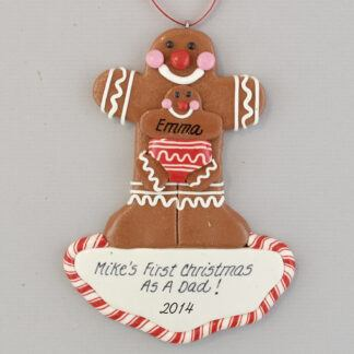 Daddy's First Christmas Personalized christmas Ornaments