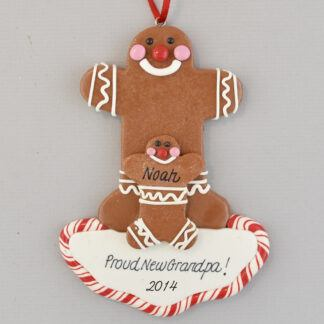 Gingerbread Grandpa of One Personalized christmas Ornaments
