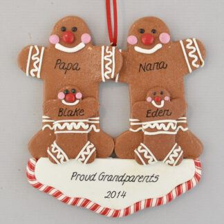 Grandma and Grandpa's Two Sweeties personalized christmas Ornaments
