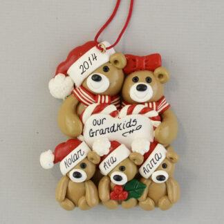 Our Three Grandkids Personalized Ornament