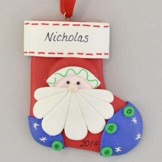 Santa Stocking Personalized christmas Ornaments