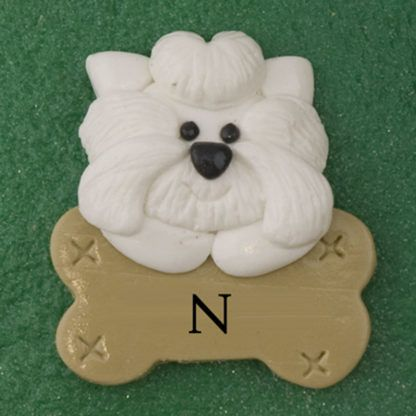 Fireplace for family of four with one pet personalized ornament-7117