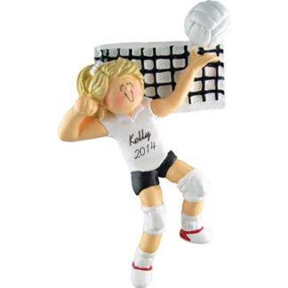 Volleyball Girl Blonde Personalized Christmas Ornaments