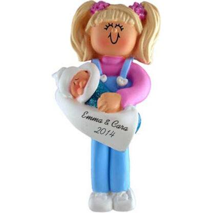 Big Sister Blonde Personalized christmas Ornaments