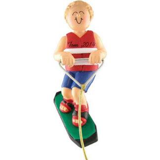 Wakeboarder Boy Blonde Personalized Ornaments