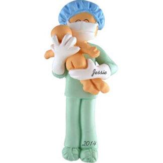 Obstetrician or Midwife Personalized christmas Ornaments
