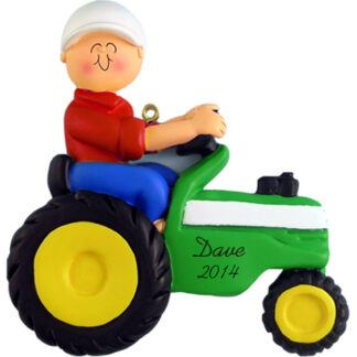 Tractor Personalized Christmas Ornaments