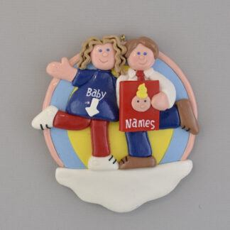 Expecting Couple personalized christmas ornaments