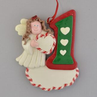 Angel #1 Christmas Brunette personalized christmas ornaments
