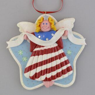 Angel - Patriotic - Blonde personalized christmas ornaments