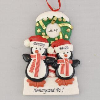 Christmas with Mommy Personalized Christmas Ornament