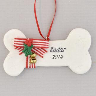 Dog's Christmas Bone Personalized Christmas Ornament