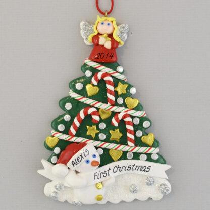 Angel Tree Baby's First Christmas Personalized Ornament