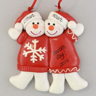 Twins Are Twice the Fun Personalized Christmas Ornament