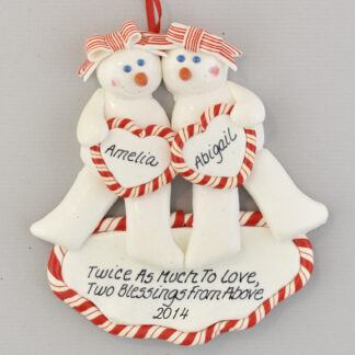 Twin Sisters Are Twice the Fun Personalized Christmas Ornament