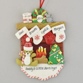 Daddy's Little Darlings Personalized Christmas Ornament