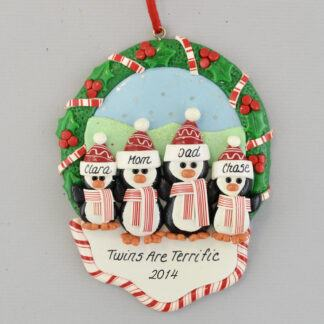 Terrific Twins Personalized Christmas Ornament