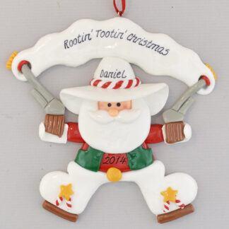 Cowboy Santa Personalized Christmas Ornament