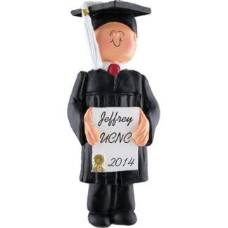 Graduate: Male Personalized Christmas Ornament