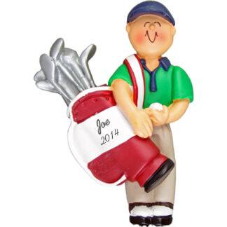 Golfer Male Personalized Christmas Ornament